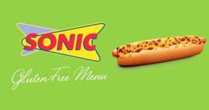 Sonic gluten free menu
